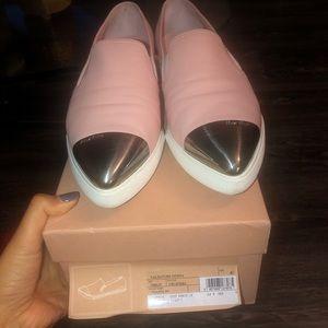 Miu Miu pink cap toe shoes